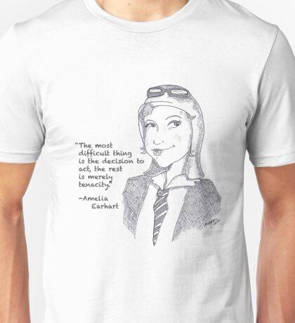 Amelia Earhart - Tenacity Unisex T-Shirt