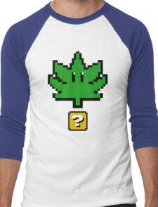 Super Weed Pixel  Men's Baseball ¾ T-Shirt