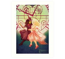 Just You and I, Defying Gravity Art Print