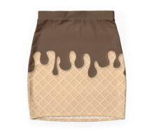 Miss Sundae - Pattern (chocolate) Mini Skirt