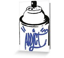 Spray Bomb Graffiti Addict Greeting Card