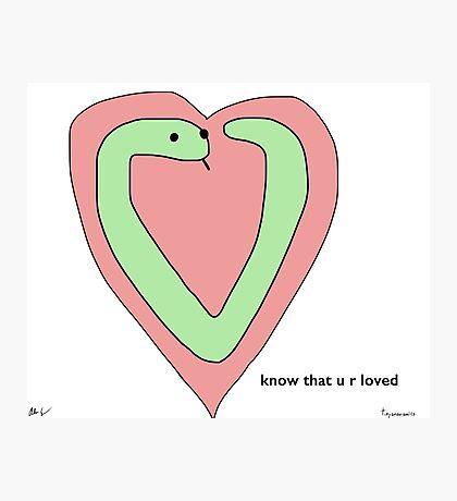 Snek Heart - Tiny Snek Comics Photographic Print