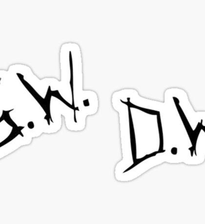 Sam Dean Winchester Initials  Sticker