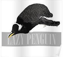 Lazy Penguin Poster