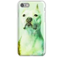 Pitbull Dog Water Color Portrait Art iPhone Case/Skin