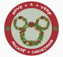 Mickey Christmas Holiday Design Kids Tee
