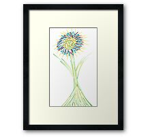 Drawn Daisy Framed Print