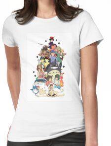 Studio Ghibli Characters Womens Fitted T-Shirt