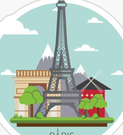 Paris France Eiffel Tower Visitors Tourist Edition Sticker