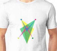 Double Arrow Slanted Rectangle Unisex T-Shirt