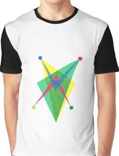Double Arrow Slanted Rectangle Graphic T-Shirt