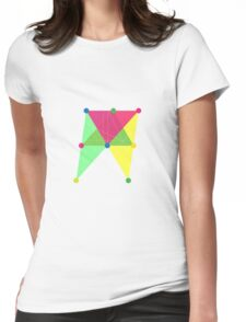 'Symmetrical' Slanted Rectangle  Womens Fitted T-Shirt