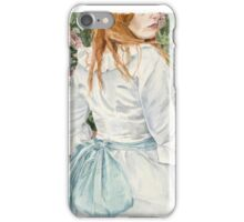 Pale Blue Silk watercolour painting by Paris Lomé iPhone Case/Skin