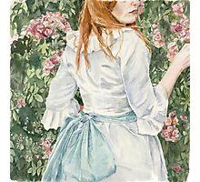 Pale Blue Silk watercolour painting by Paris Lomé Photographic Print