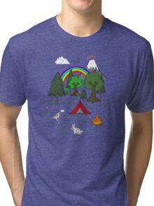 Camping Diorama Stickers Tri-blend T-Shirt