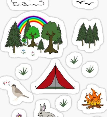 Camping Diorama Stickers Sticker