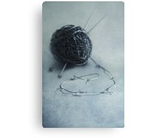 Lets knit a bit Canvas Print