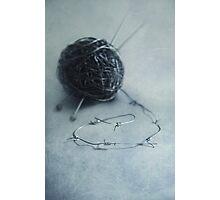 Lets knit a bit Photographic Print