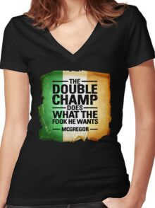 McGregor - Double Champ Women's Fitted V-Neck T-Shirt