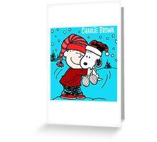 CHARLIE BROWN PEANUTS SNOOPY XMAS MATA 6 Greeting Card