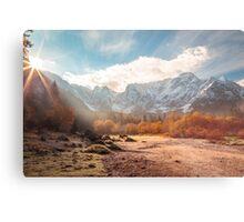 autumn sunrinse in the valley Metal Print