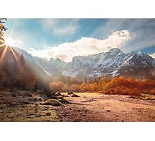 autumn sunrinse in the valley Photographic Print