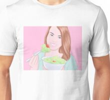 Woman eating salad Unisex T-Shirt
