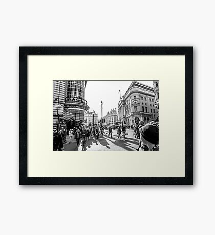 Piccadilly rush Framed Print