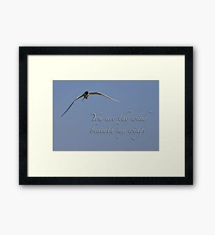 Wind beneath my wings Framed Print