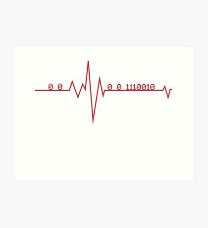 Programmer HeartBeat Art Print