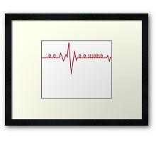 Programmer HeartBeat Framed Print