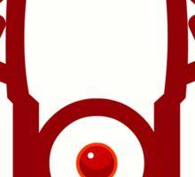 RED NOSED LANTERN Sticker