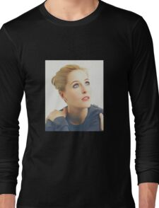 Gillian Anderson portrait Long Sleeve T-Shirt