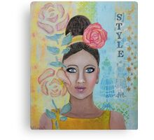 Girl Style Is In Canvas Print