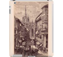 Antique Engraving Old Print Milano Italy iPad Case/Skin