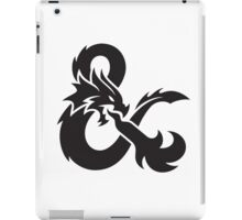 DnD logo (Black) iPad Case/Skin