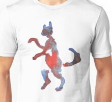 Red And Blue Walking Cat Unisex T-Shirt