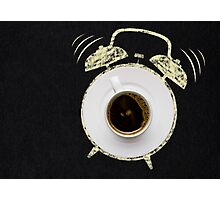Alarm coffee. Photographic Print