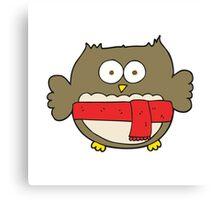 cartoon cute owl Canvas Print
