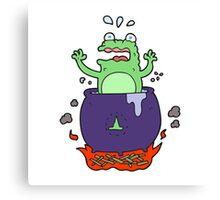 cartoon funny halloween toad Canvas Print