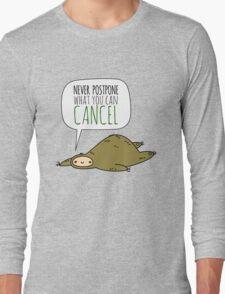 Sloth Wisdom.  Long Sleeve T-Shirt
