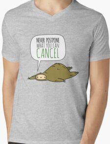 Sloth Wisdom.  Mens V-Neck T-Shirt
