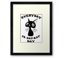 Everyday is Bat-Cat Day Framed Print