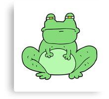 cartoon frog Canvas Print