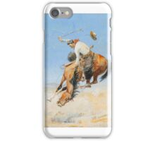 EDWARD BOREIN  Swappin' Ends  gouache on paper iPhone Case/Skin