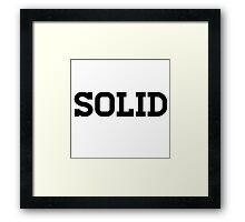 Solid Clothing Line Framed Print