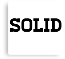 Solid Clothing Line Canvas Print