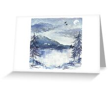 Frosted Mountains Greeting Card