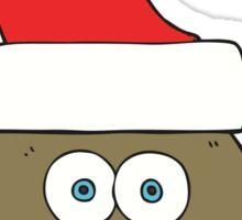 cartoon little christmas owl Sticker