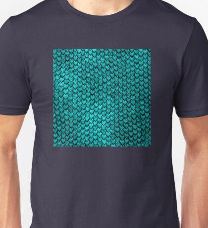 Mermaid Scales - Turquoise Unisex T-Shirt